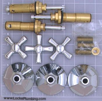 American Standard Re Nu 3 Handle Complete Faucet Rebuild