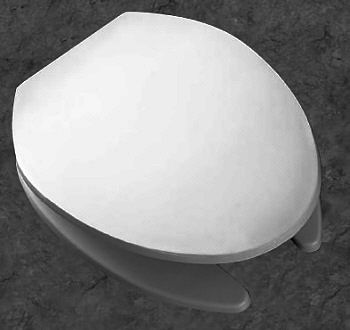 Bemis White Commercial Split Front Toilet Seat With Cover