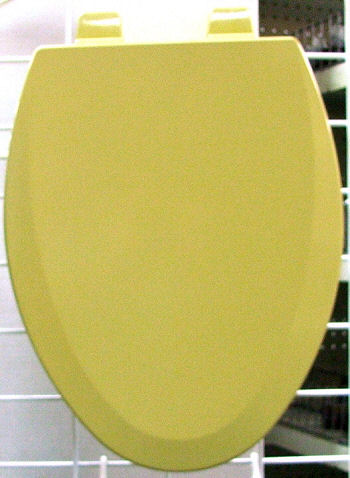 Elongated Harvest Gold Wood Toilet Seat Only Available In Plastic Now Loc