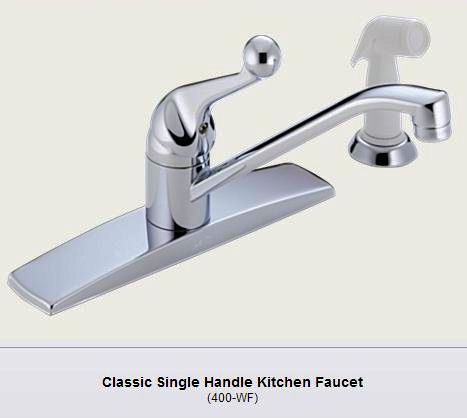 delta 400lf wf kitchen faucet with side spray old style industrial style faucets by watermark to give your