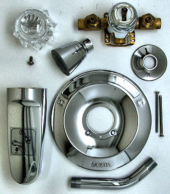 Delta Single Handle Bath Shower Valve Kit With Supply