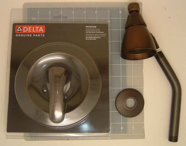 Delta RP54870RB Knob Handle To Lever Handle Conversion Kit Oil Rubbed Bronze