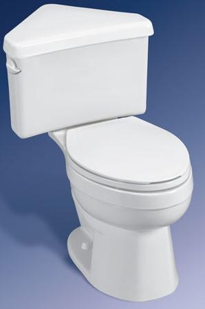 Titan Pro Elongated White Corner Toilet Now Supplied By
