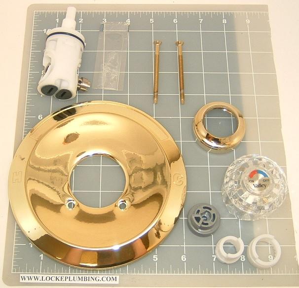 eljer v4268pbkit polished brass single lever rebuild kit locke plumbing. Black Bedroom Furniture Sets. Home Design Ideas