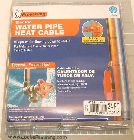 Frost King Hc24 24 Foot Water Pipe Heat Cable Locke Plumbing