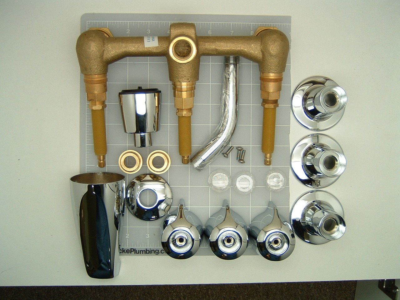 Gerber 48-030 Three Valve Tub And Shower Faucet On Eight Inch ...