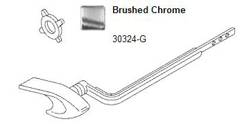 Kohler 30324 G Brushed Chrome Trip Lever Locke Plumbing