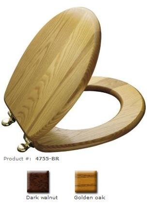 Admirable Solid Oak Kohler Elongated Toilet Seat With Polished Brass Beatyapartments Chair Design Images Beatyapartmentscom