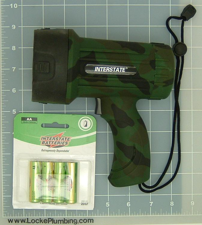 Interstate Camo Led Spotlight With Alkaline Batteries