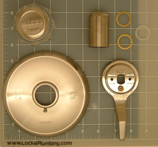 Mixet MDXTR-5 Satin Nickle Single Lever Tub and Shower Trim Kit ...