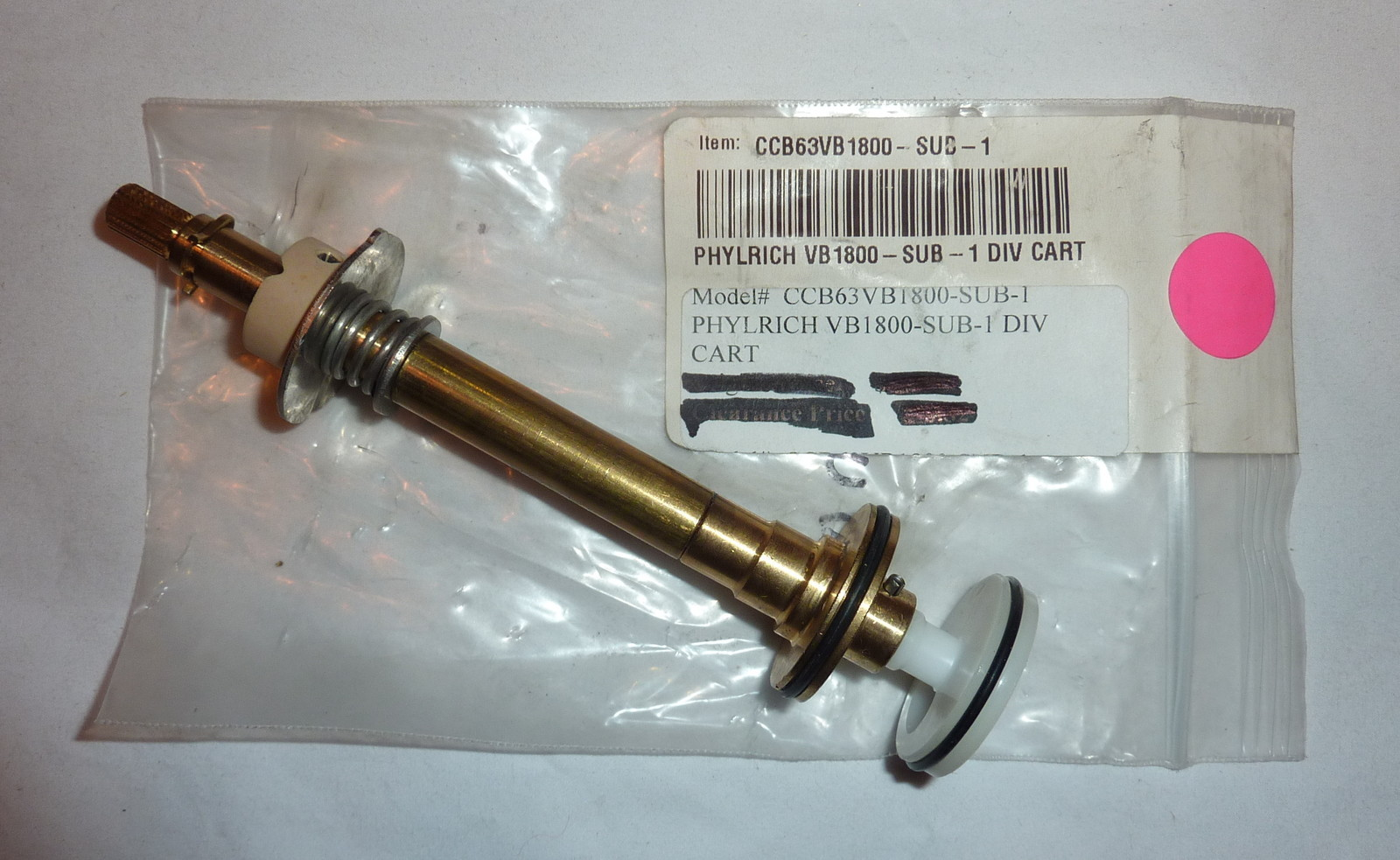 Phylrich VB1800SUB1 Diverter Assembly - Locke Plumbing