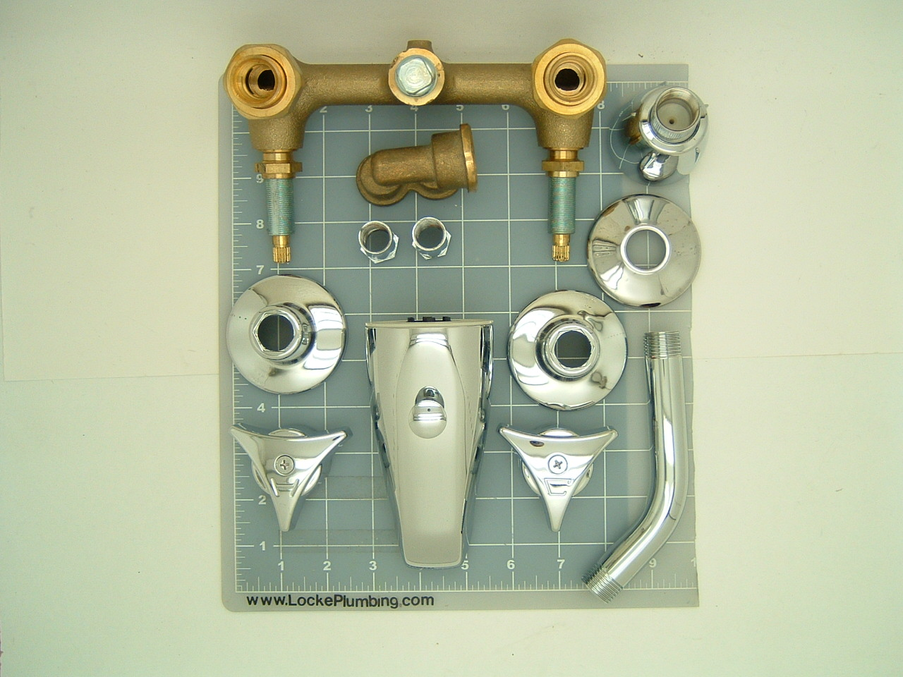 Union Brass 632 Two Valve Tub And Shower Faucet 6 Inch Centers With ...