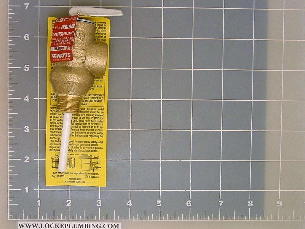 Watts 12 Inch Male Iron Pipe Pressure Relief Valve Lf1l 2 150 Pound