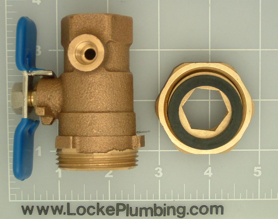 Wilkins 3 4 Inch Ball Valve Tapped With Union For Backflow