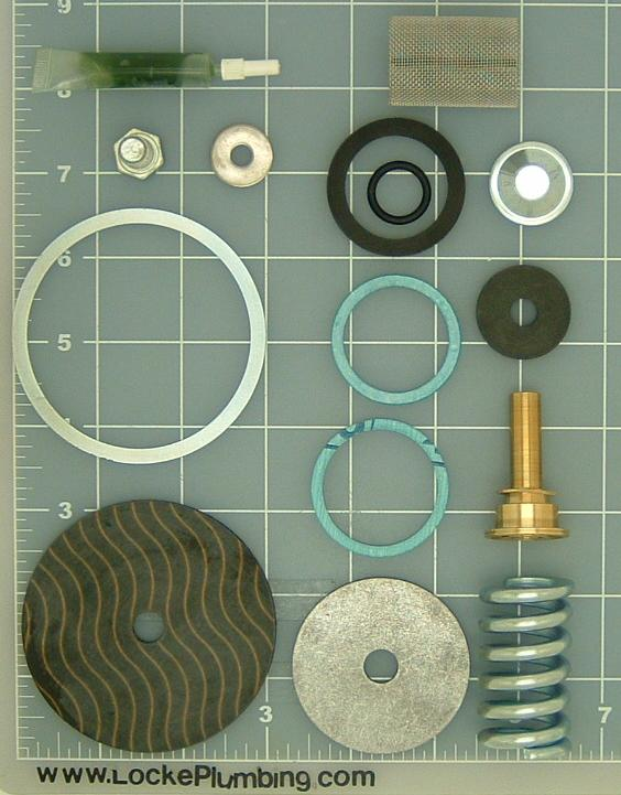 wlikins model 600 one inch pressure reducing valve repair kit lead free locke plumbing. Black Bedroom Furniture Sets. Home Design Ideas
