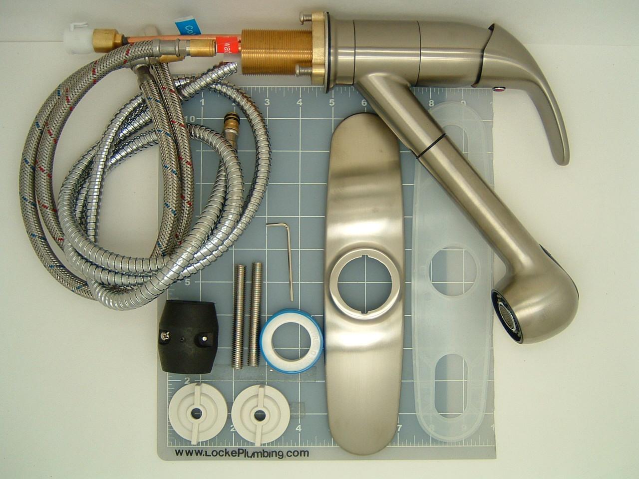 WB 85503 Brushed Nickel Essence Single Handle Kitchen Pull