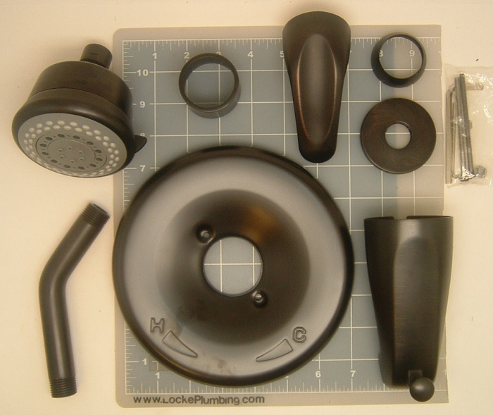 Wolverine Brass 85671T Oil Rubbed Bronze Essence Tub and Shower ...