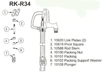 Woodford Rk R34 Repair Kit Locke Plumbing