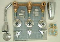 union brass 30 3 handle tub and shower valve with metal handles