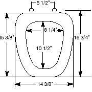 Eljer Emblem Toilet Seat Size Guide