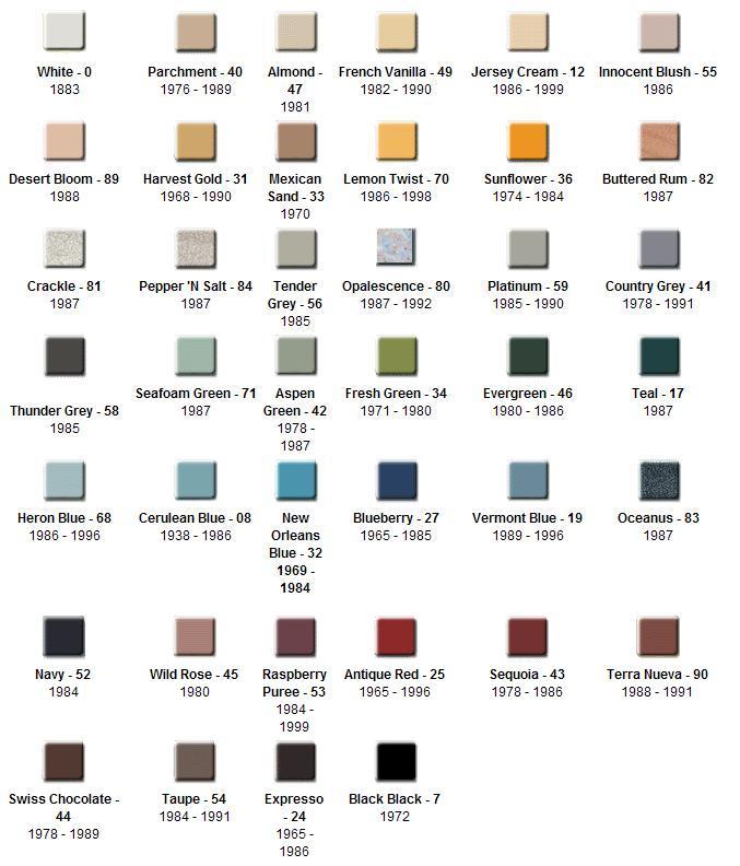 Kohler Tub Colors : Kohler Color Guide At Locke Plumbing